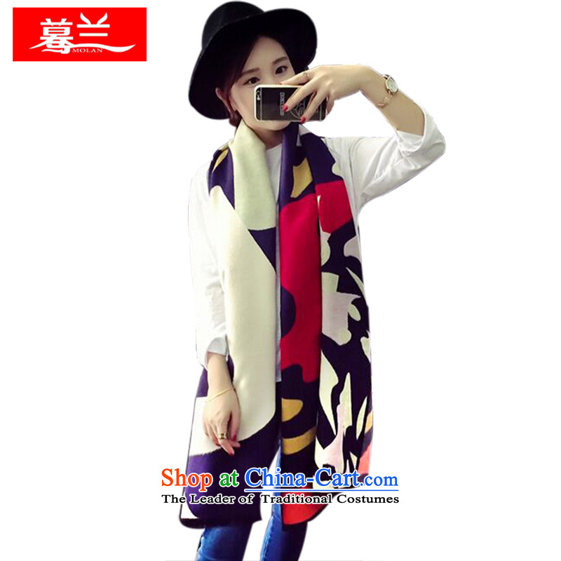 In the new bute autumn and winter stitching grid color woolen cashmere reversible warm cloak Fancy Scarf two with women such as map color