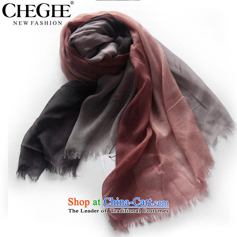 Black and White gradients CHEGEE cotton linen scarf bleeding ink Fancy Scarf men, scarf pink gradient