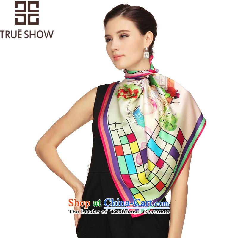 Dump-soo herbs extract silk scarf small silk scarf, leisure silk scarves Du Shi Qing Yuan