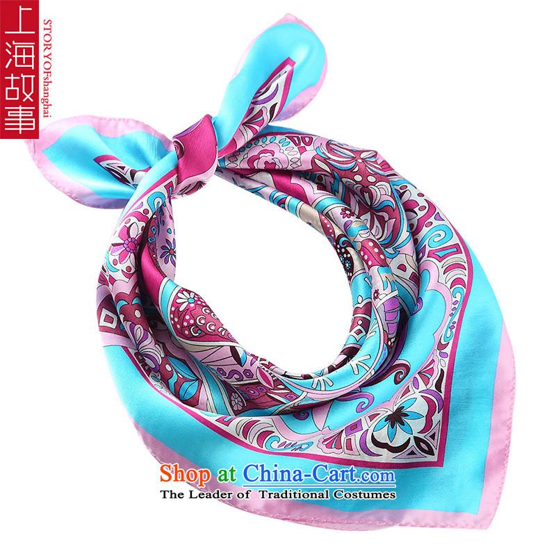 Shanghai Story small towel silk scarves female sauna silk air hostesses Scarf5#