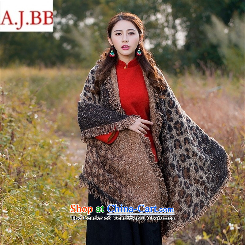 Orange Tysan *NT9346 arts van 2015 autumn and winter new shawl retro-thick long knit jacquard scarf female deep card in color