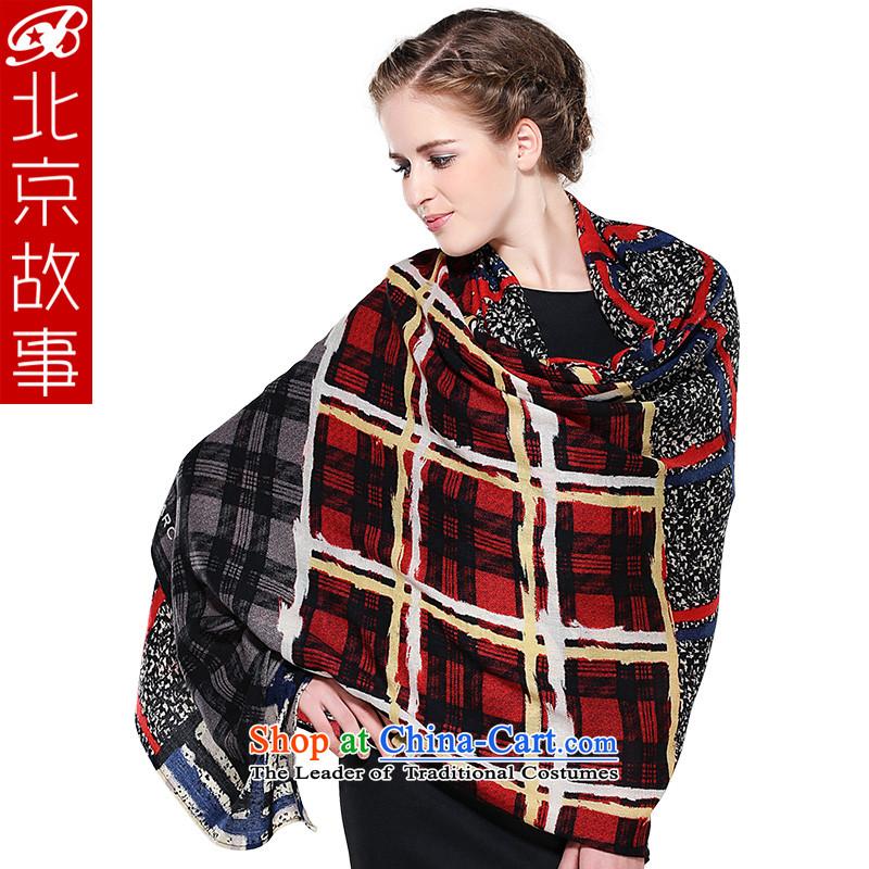 Beijing story winter glamour woolen shawl scarf warm longer Ms. thick latticed scarf
