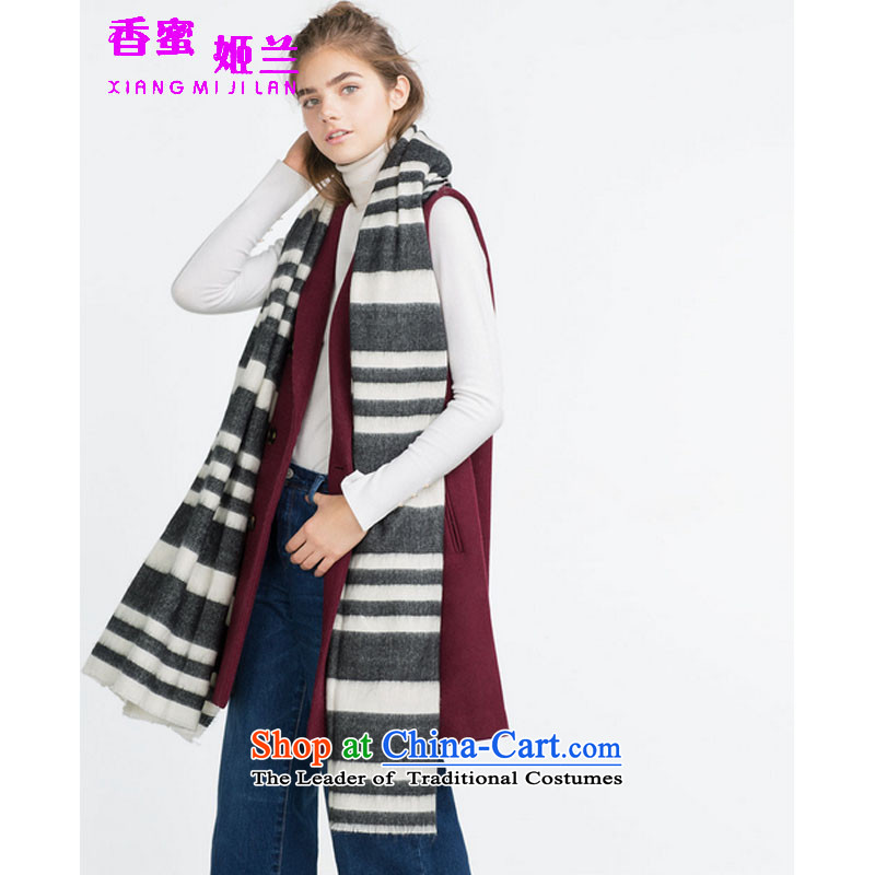 Suu Kyi, Gouwugongyuan and2015 new monochrome streaks soft scarf wild shawl scarf Picture Color