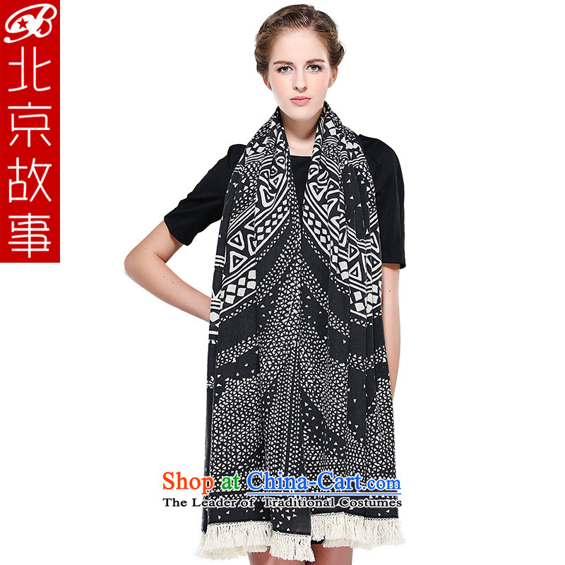 Beijing story winter atmosphere thick Korean exceptional warm wool woolen shawl scarf