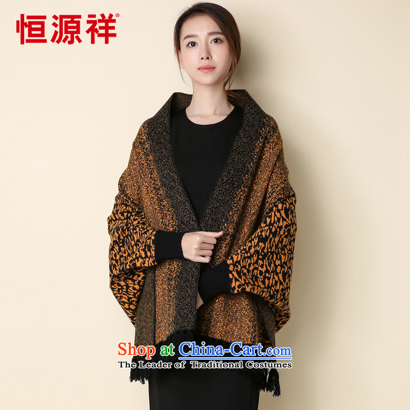 Hang Cheung New Source for autumn and winter cloak shawl scarves with two female knitting cardigan spring coat edging warm bat sleeves and Kim