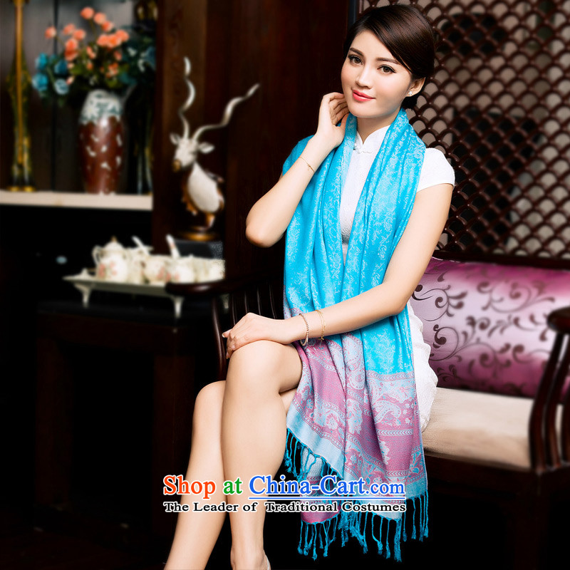 2015 new nation TAOYEE wind cashew edging Fancy Scarf autumn and winter warm blue lake scarf