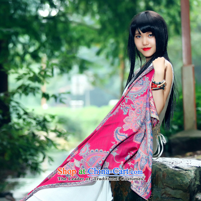 The new nation TAOYEE su cotton linen scarf female autumn warm longer Fancy Scarf by using two red