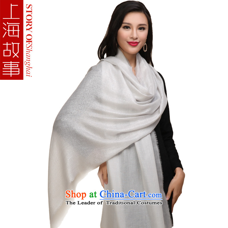 Shanghai Story pure Cashmere scarf, autumn and winter shawl a m White