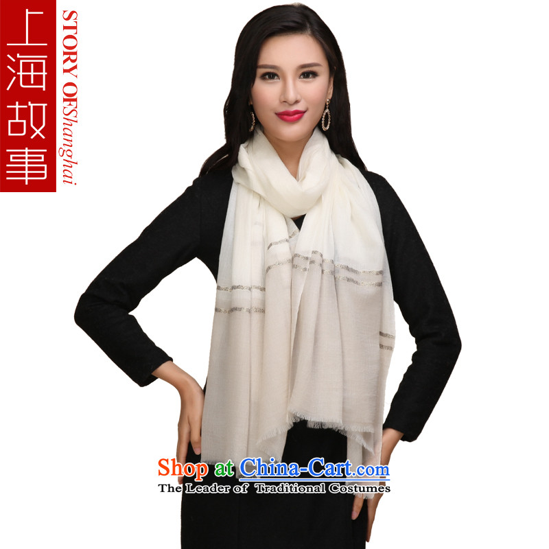 Shanghai Story pure Cashmere scarf, autumn and winter green shawl
