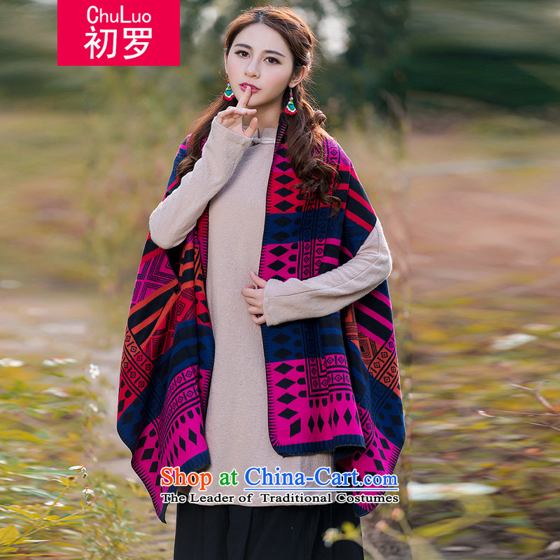 At the beginning of the Winter 2015 Korean new women's stylish and cozy China wind arts retro Fancy Scarf red are code