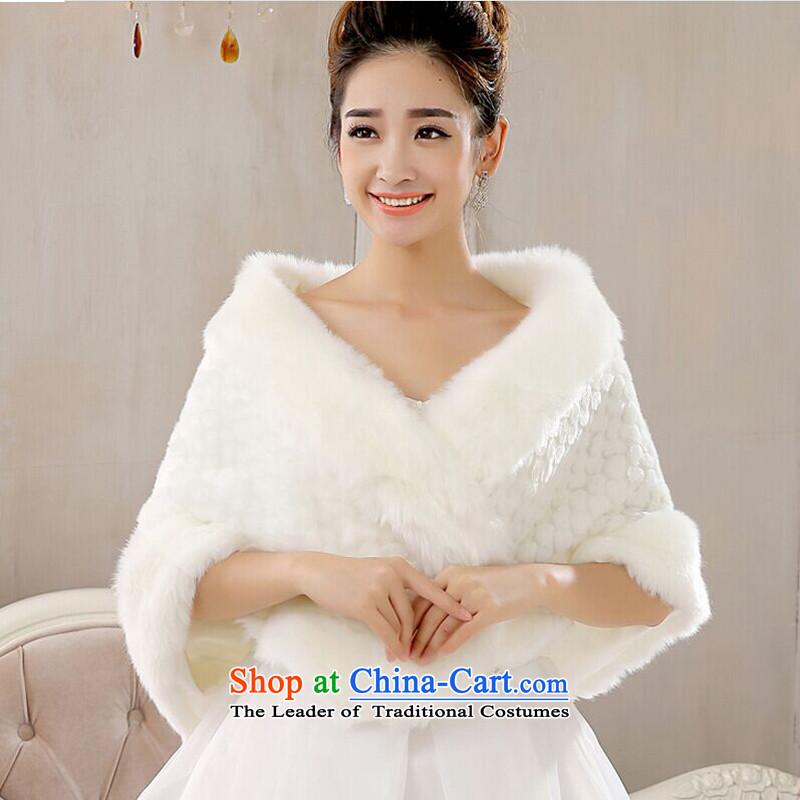 Talk to hernew bride 2015 wedding dresses qipao shawl warm winter winter, shoulder of the brides thick hair shawl