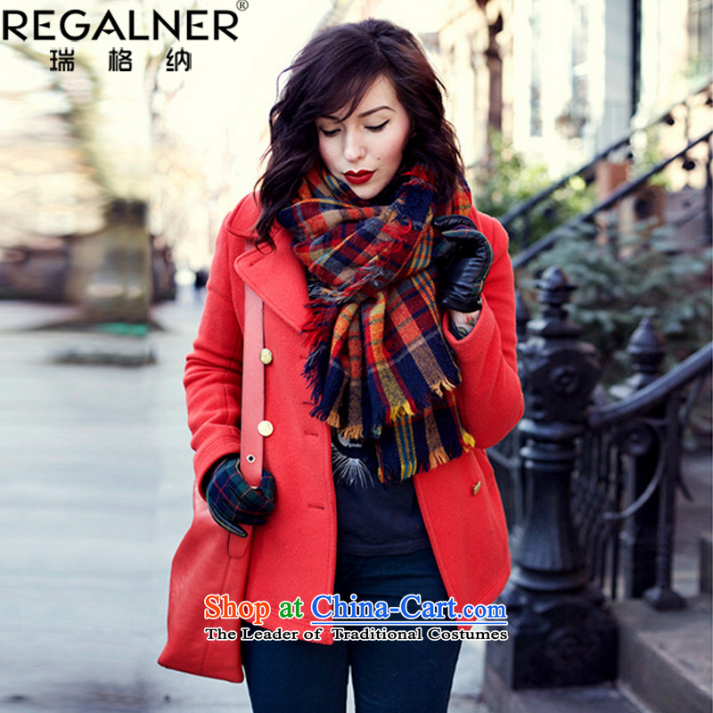 Rui, 2015 Fall/Winter Collections new grid scarf female autumn and winter Korean New Knitting scarves knitted thick women cape scarf two stylish wild picture color no Size