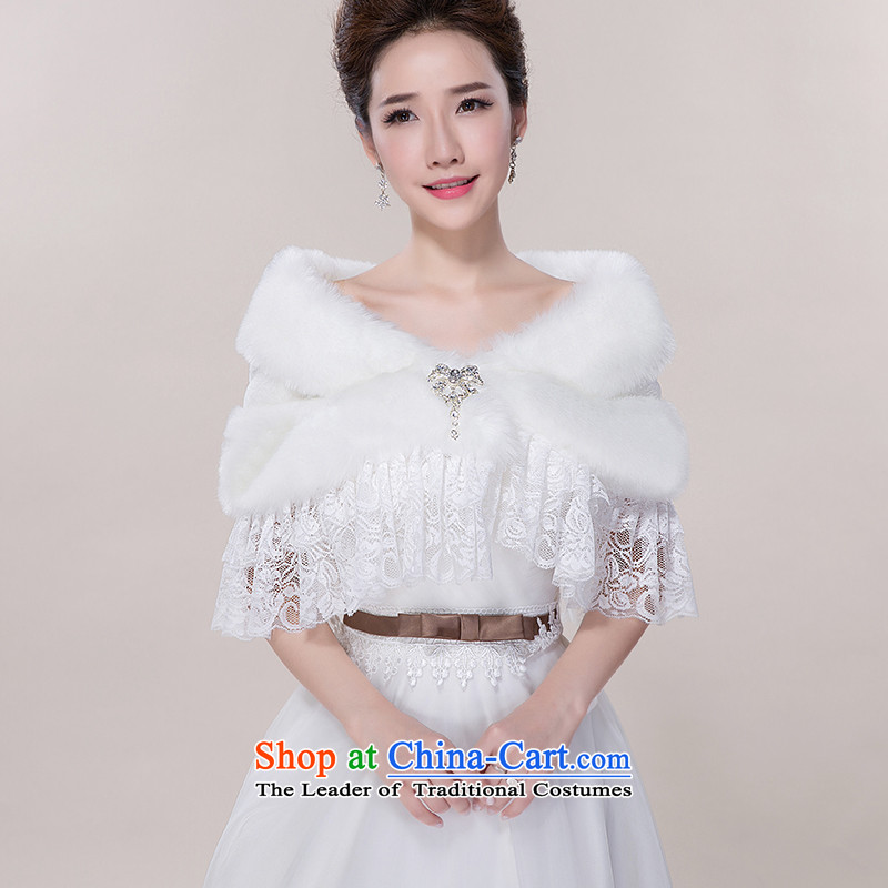 The new Korean brides wedding dresses shawl warm winter white lace gross shawl spring, summer, autumn and winter lace white-haired gross