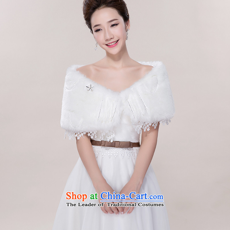 New wedding dresses autumn and winter gross shawl bridesmaid gross shawl bride wedding dresses marriage Winter Sweater shawl White