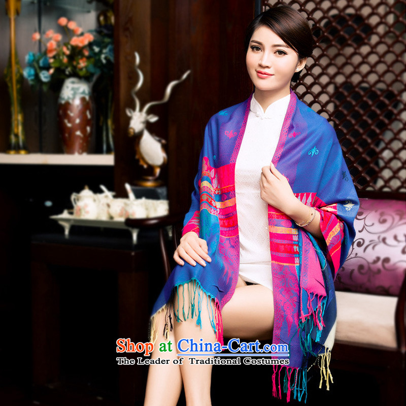 Ms. scarves ethnic TAOYEE Korean version of autumn and winter thick, wild edging a shawl4313Royal Blue