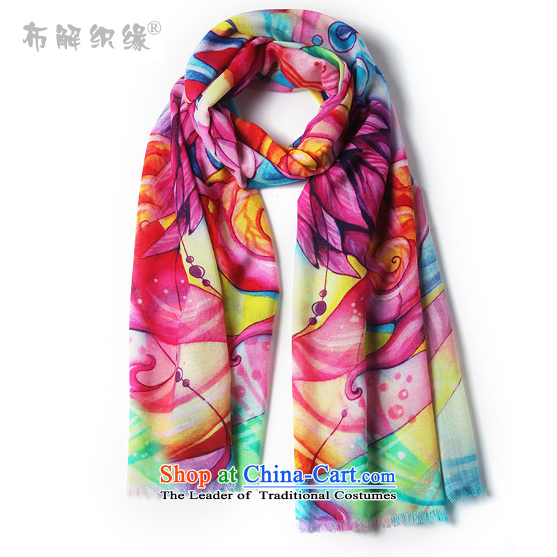 The leading edge of autumn and winter-weaving new 100 Wool Scarf Girl Exclusive stamp a Korean version of the cape a F001-06