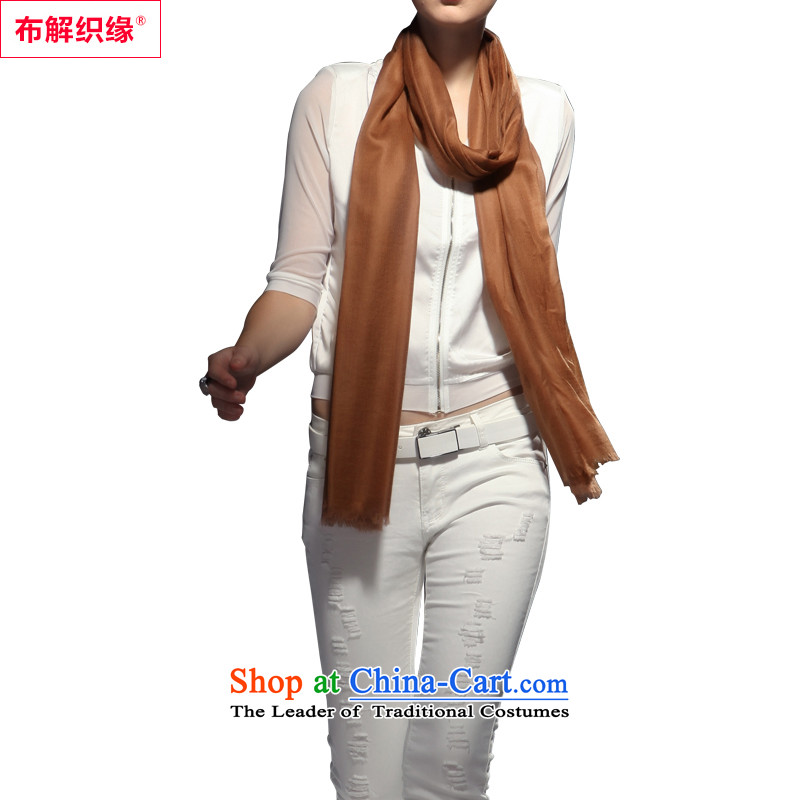 The leading edge of the weaving pashmina solid color girl of autumn and winter long shawl two200 support ring lint-free high a warm brown