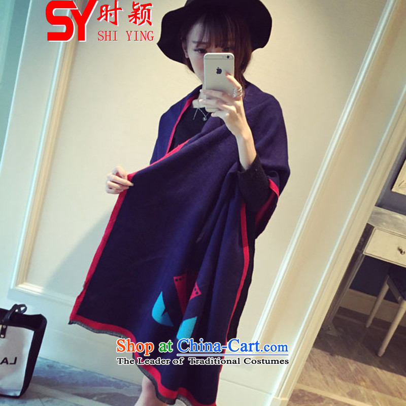 When a woman on the Winter Ying 1893# new autumn and winter small monster demon Duplex Long, scarf warm thick black shawl