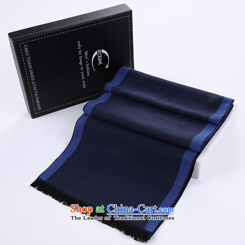Business people who knocked color scarves stylish men couples leisure men and women warm winter a British American boutique silk scarf blue
