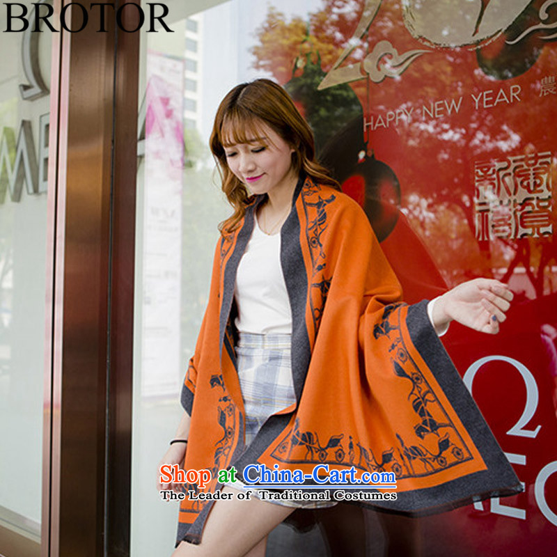 Brotor2015 autumn and winter new products of the same power of Yang scarf emulation Cashmere scarf carriage long thick shawl Q6052 air-conditioning, Orange