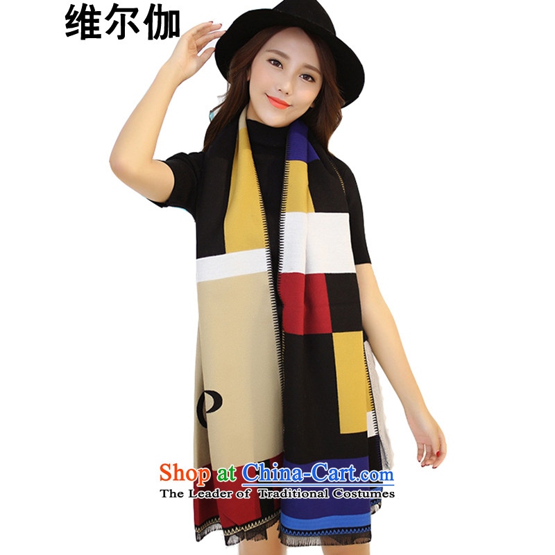 D gamma2015 autumn and winter New England wind emulation cashmere spell color grid a wild warm shawl two female W8090 scarves withPicture Color