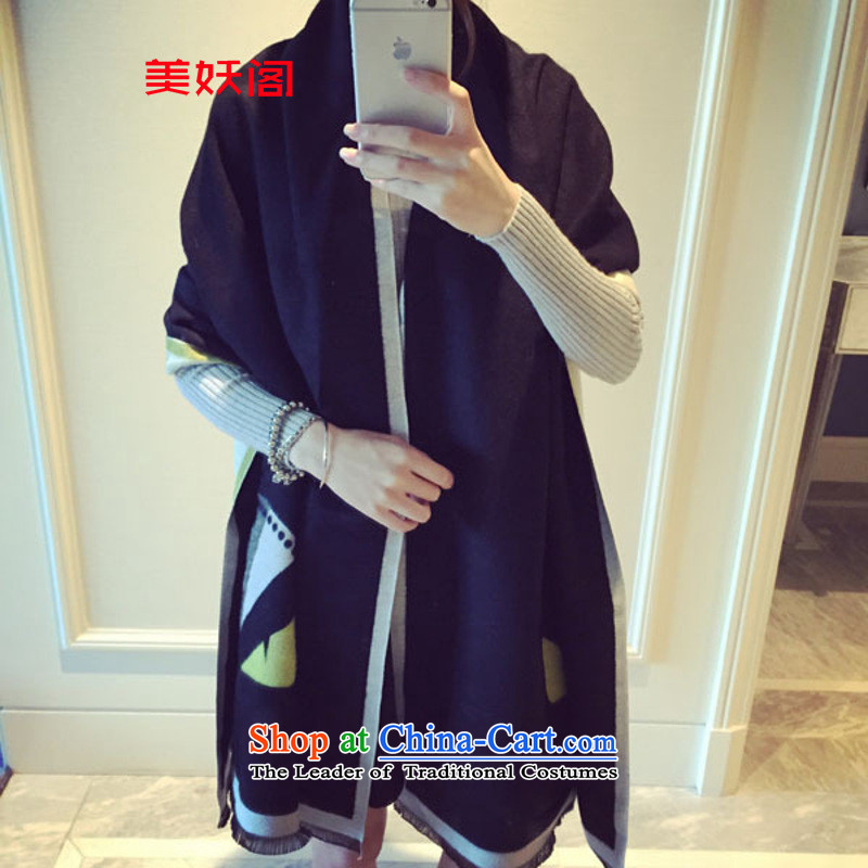 The United States actively court    2015 emulation pashmina shawl small monsters scarves with two Spring and Autumn Korean thick warm Duplex Long) female  SS black