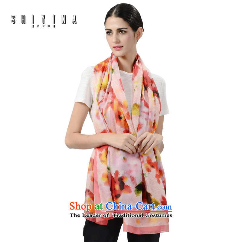 Poetry ina (shiyina) scarf female winter Korea silk herbs extract silk scarf small saika masks in idyllic fresh warm a red