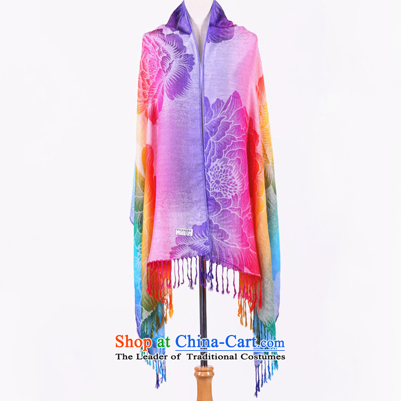 Seven Colored ethnic TAOYEE Mudan scarf cotton linen female autumn wild extra-large air-conditioning shawl Pink