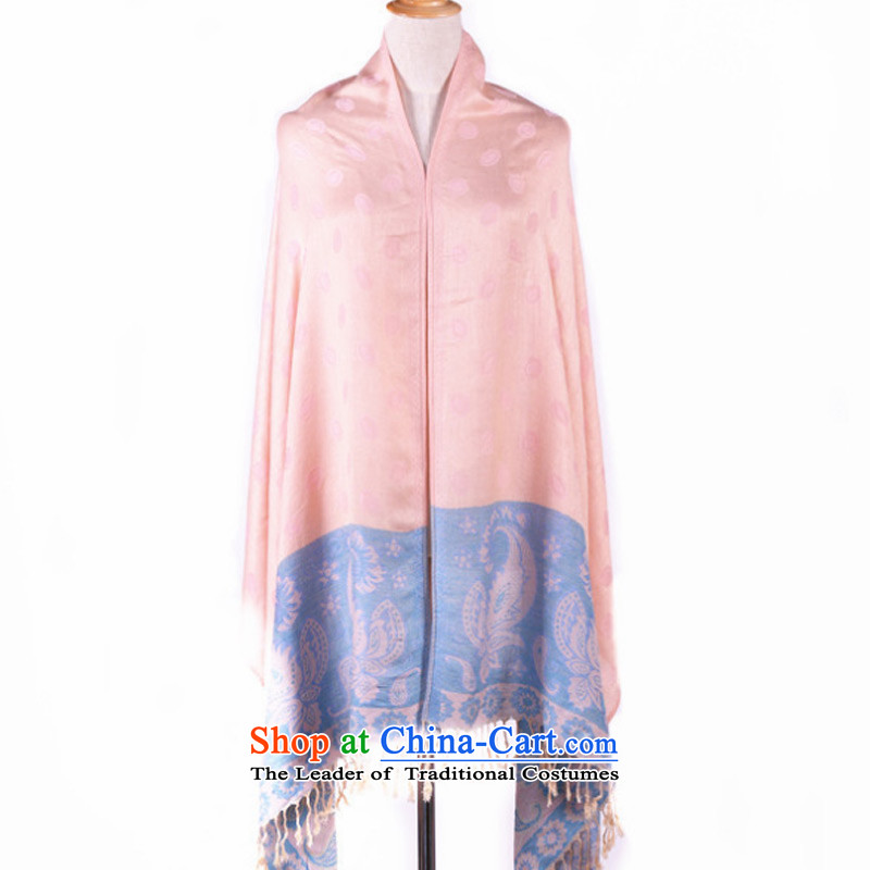Taoyeedot pure color use two scarves, beach towels, spring and autumn winter shawl female Pink