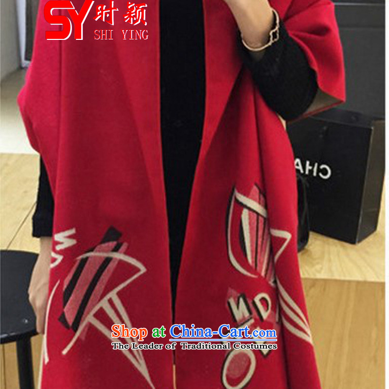 When a woman on the Winter Ying new spring and autumn winter winds shawl scarves national women and two with the double-sided mantle Thick Long's benefits red plus beige