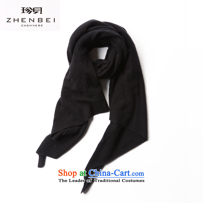 Black and White spring and autumn) Jin Addis Ababa 2015 New Sleek and versatile engraving pure Cashmere scarf TMW1105 long black