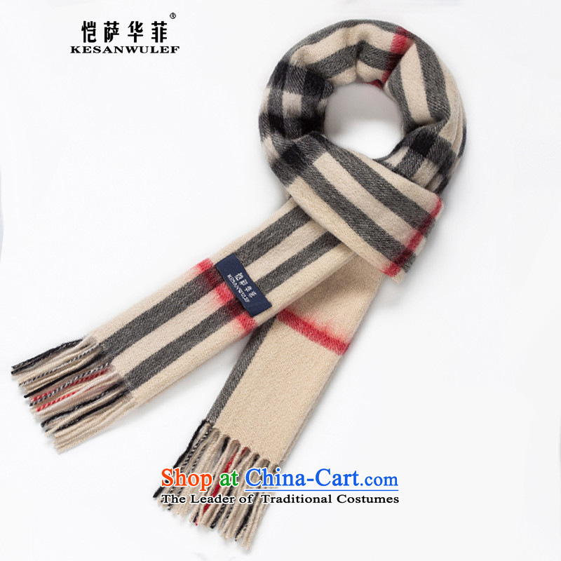 Kai Wah, wool scarf of men and women to the British Grid thick pashmina of autumn and winter Korean men and women warm taxi a couple of the scarf large compartments