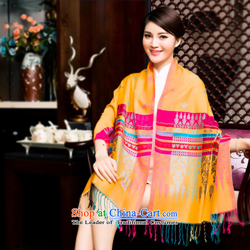 Ms. scarves ethnic TAOYEE Korean version of autumn and winter thick, wild edging a shawl4313orange