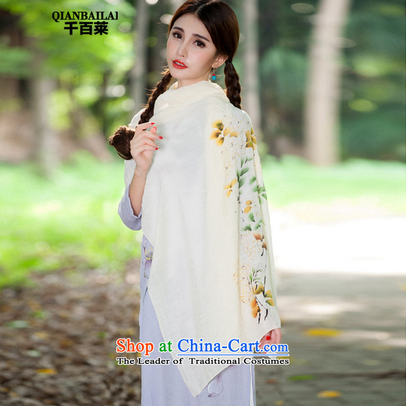 Hundreds, 2015 winter new ethnic stamp Fancy Scarf 9315 Light Yellow