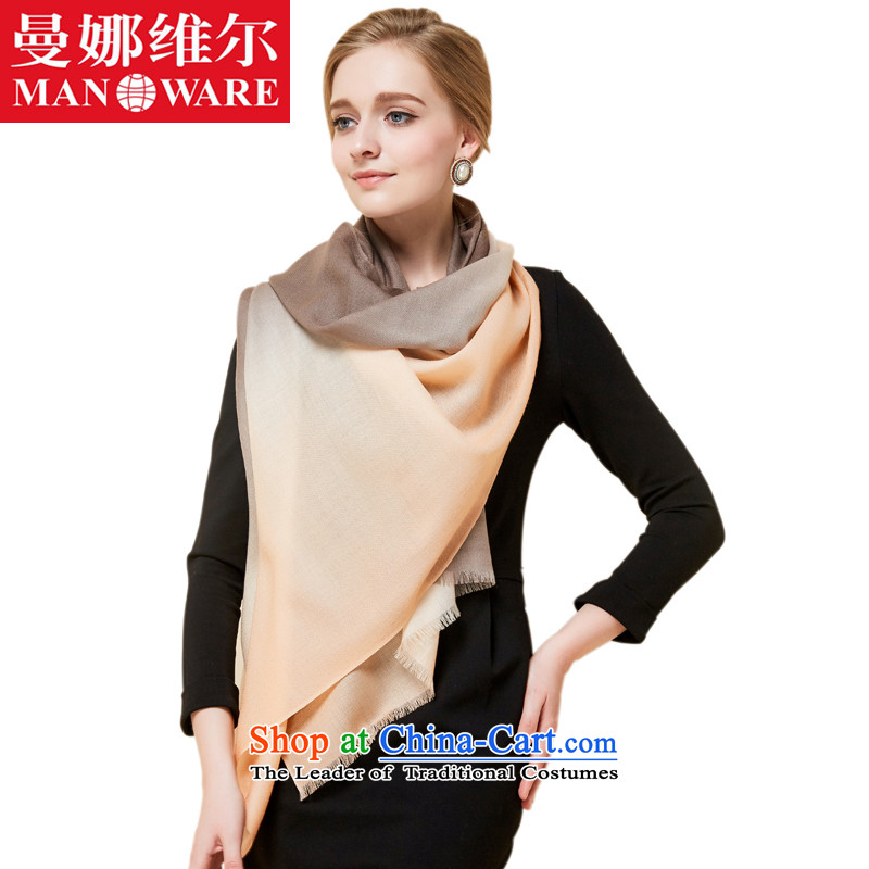 The Cayman, Indian shawls autumn and winter new Ms. wooler scarf upscale Indian shawls long warm with two large wool a satin dyeing quality worsted discoloration of the infected - Orange shawl lady gradient