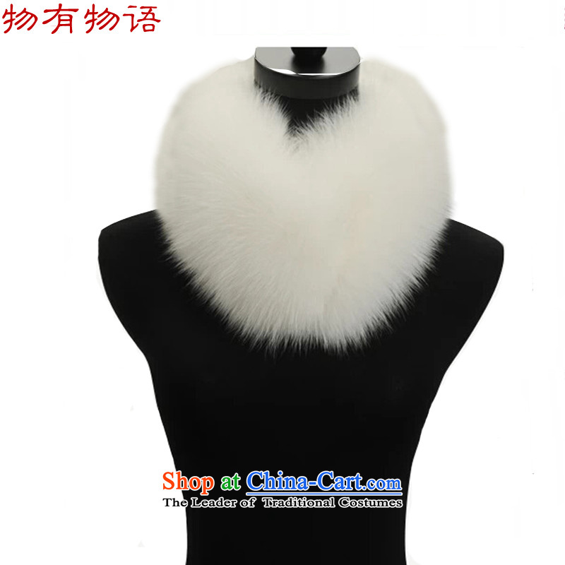 The Chinese have warm winter a solid color scarf stylish white collar leave women are code