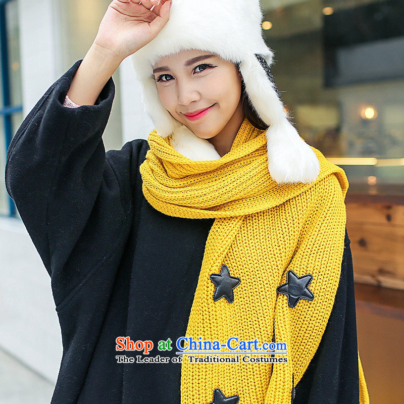 The fog, Knitting scarves shawl dual-use grid a Korea edition fall winter taxi couples scarves men and women turmeric yellow