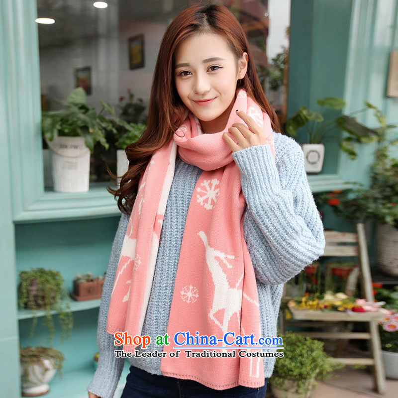 The Korean version of the scarf female students in Korea during the spring and autumn thickened winter couples a female Winter Sweater Knit wild long at Deer - Black, Night Maple Monogatari , , , shopping on the Internet