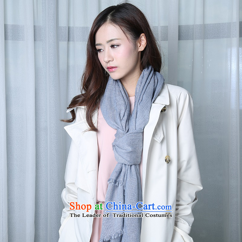 Cotton linen scarves, autumn and winter extra large long scarf pure color arts van wild silk scarf shawl scarfHSW90384313Blue