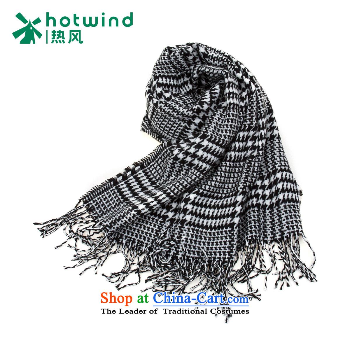 Hot Air Tool 2015 women D chidori grid warm scarf P060W5412 19 black and white