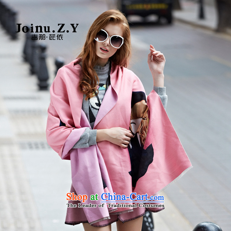 The order in gil autumn and winter new stylish cartoon stamp large shawl4313Scarf Pink