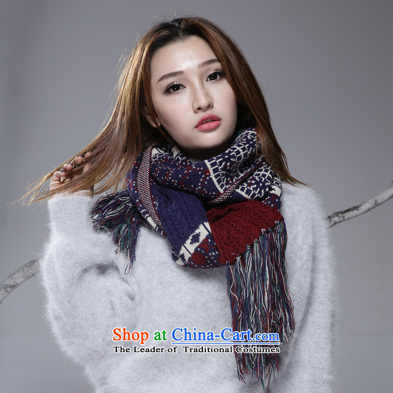 A world-class Sioux nation wind long long scarf emulation cashmere shawls Ms. warm winter 2015 new Tibet scarf blue