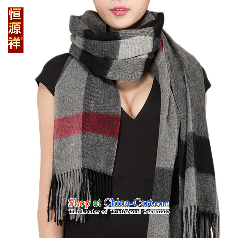 Ms. Cheung Hengyuan pashmina shawl summer air-conditioned rooms large segments of the Korean version of autumn and winter shawl satin wool long thickblack with gray 3# scarves couples