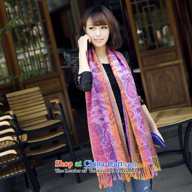 2015 Color trend of Korean spell the end of the scarf large shawl edging long scarf autumn and winter new red