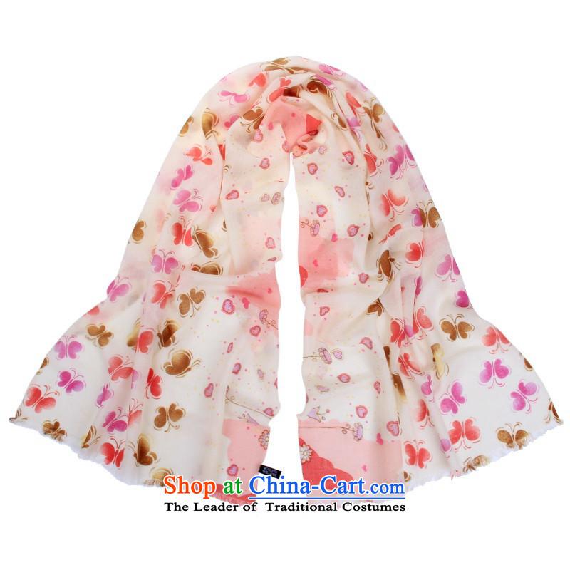 An idyllic romantic love 2015 Wind Butterflies wool edging heart Fancy Scarf female Pink