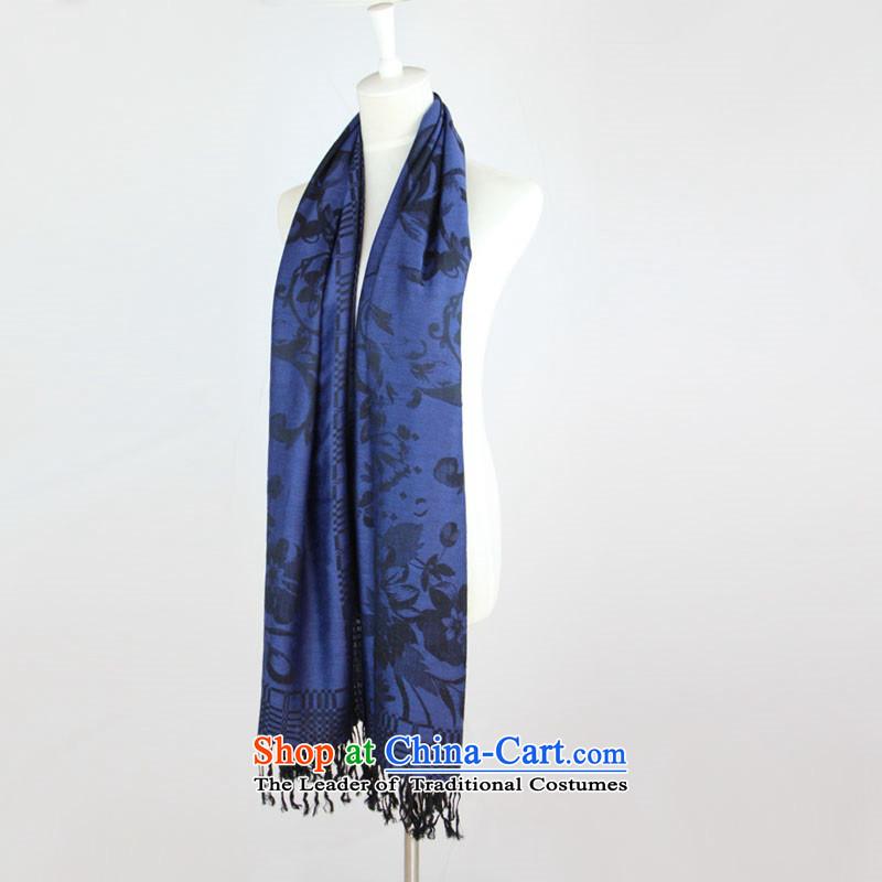 2015 Fashion Bohemia National Su extra long, air conditioning shawl scarves shawl anti-Dark Blue
