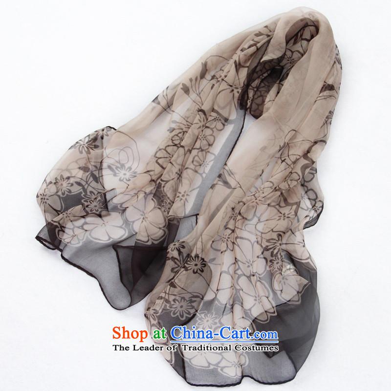 Leaf long silk scarf sauna silk scarvesspring and summer 2015, Ms. thin gray scarf