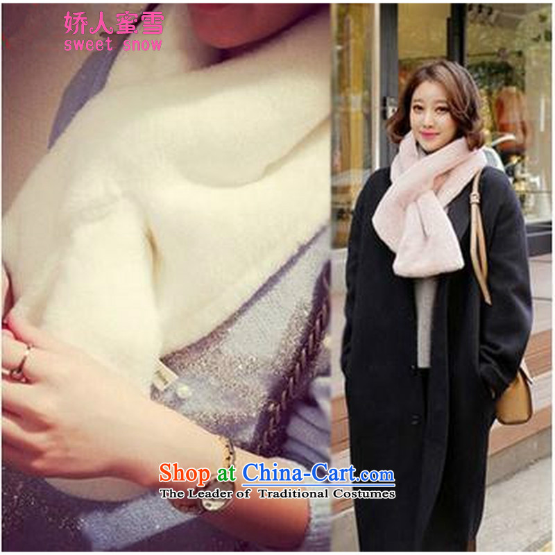 Use of Michelle Korea feels good lovely thick solid color Maomao small handkerchief also Pink