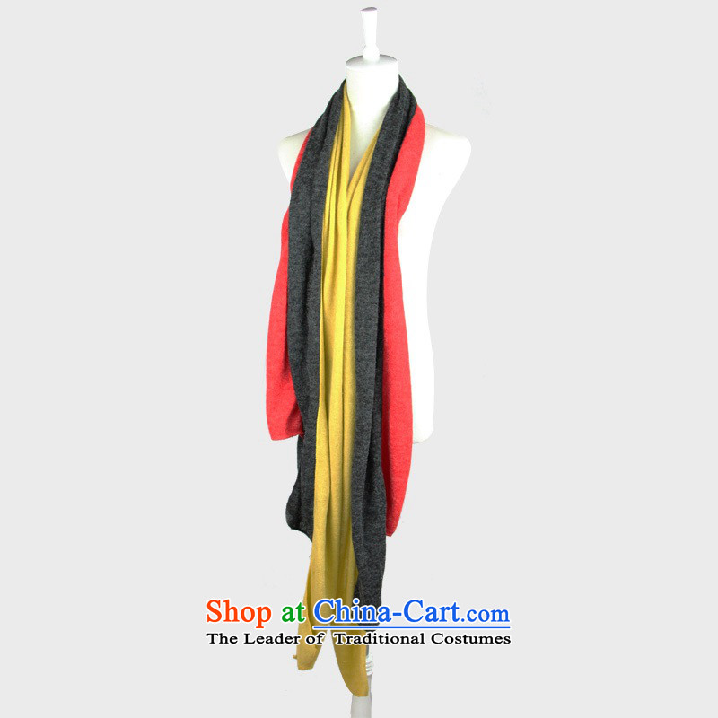2015 Won-stripe spell version stylish knitted warm tri-color knitting scarves a fall and winter new red stripe