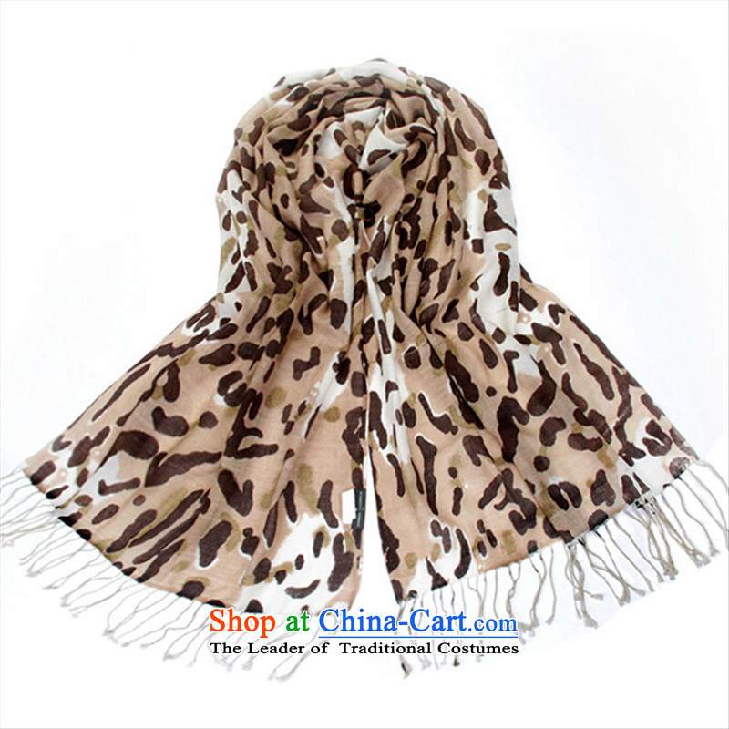 2015 new large leopard scarf oversized ultra long wool scarves, autumn and winter mandatory